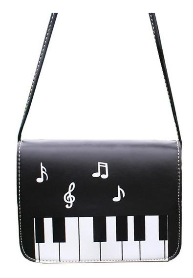 Bolso Piano Bolsa Nota Musical Teclado Musicos