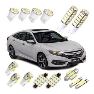 Kit Automotivo Led Honda New Civic G10 2017 2018 2019 Branca