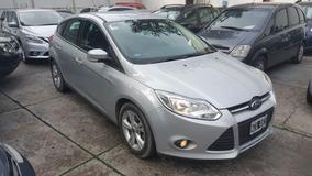 (jav) Ford Focus 3 Se 1.6 16v En Cuotas Gris Unica Mano