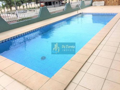 Imagem 1 de 20 de Apartamento Com 2 Dormitórios À Venda, 90 M² Por R$ 350.000 - R2f61a - Canto Do Forte - Praia Grande/sp - Ap0455