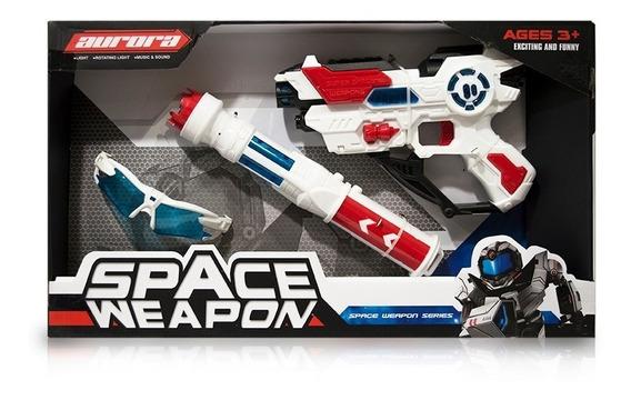 Pistola Luz Y Sonido Aurora Space Weapon Con Gafas Ck