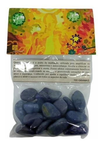 Pedra Rolada Quartzo Azul 100g - 4005