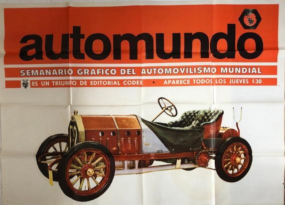 Afiche De Calle Publicidad Revista Automundo Ed Codex