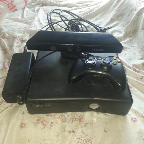 Xbox 360+kinect+controle+18 Jogos+pilhas Recarregáveis
