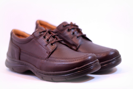Zapatos Febo 5302 Confort Cuero Forrados Negro Marrón