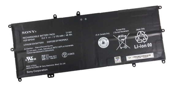 Bateria Original Sony Fit 14a 15a Svf14n Svf15n Vgp-bps40
