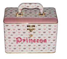 Álbum Box Princesa Coroas Rosa 600 Fotos 10x15 + Diário