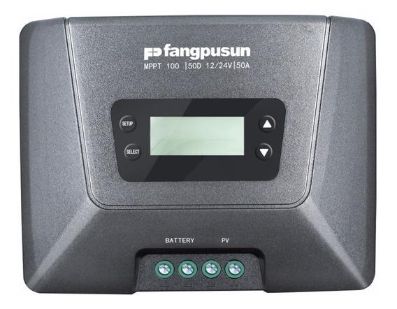 Controlador Carga Solar Mppt 50a 12v 24v Fangpusun Tensão De Entrada Painel Em Aberto 100v