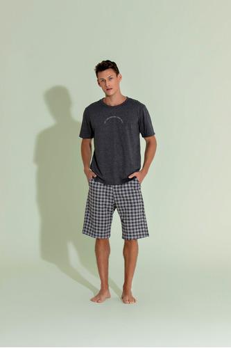 Pijama 1/2 Malha Bermuda Masculino - Moletinho - Ref. 13086