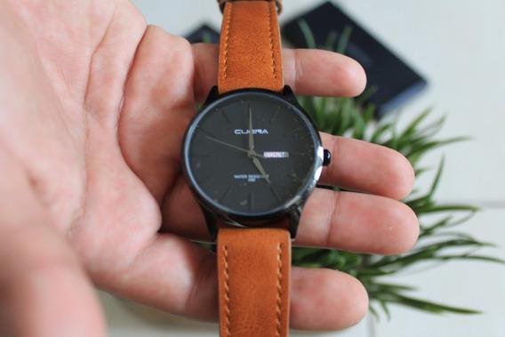 Reloj Negro Con Cafe Para Caballero Nuevo. Hombre