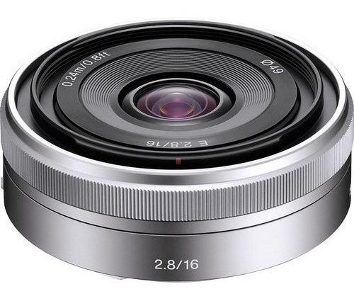 Lente Sony Sel 16mm F/2.8 Grande Angular E-mount
