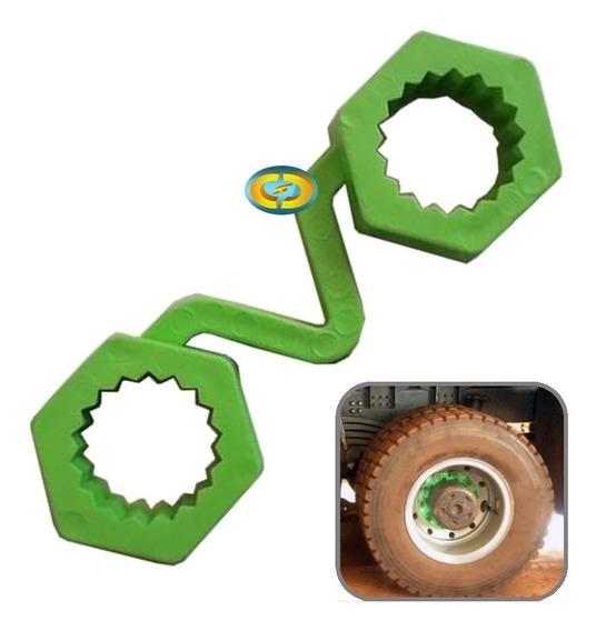 Trava Roda Caminhão Parafusos 32mm Segurança Mineração