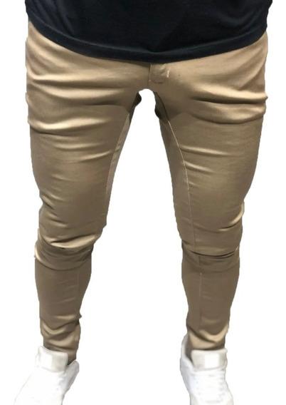 Pantalon Farenheite De Vestir Chupin Hombre Beige