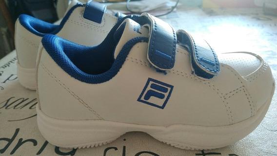 Zapatillas Fila Original Niños T24 Con Abrojo