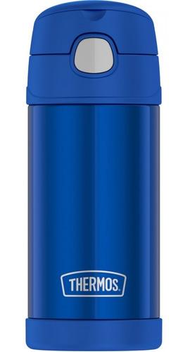 Termo Marca Thermos Original 355ml Azul Liso!