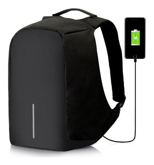 Mochila Antirrobo Smart Carga Usb Notebook Celular Tablet