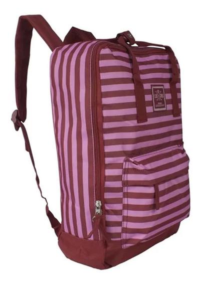 Mochila Escolar Feminina Clio College Mf8021 - Vermelho