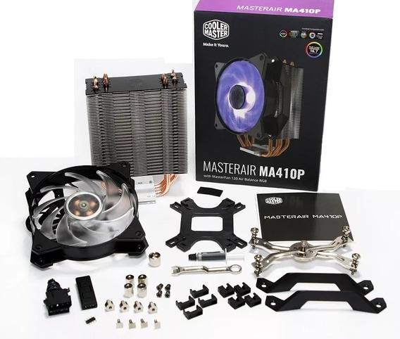 Cooler Master Air Ma410p Led Rgb C/ 4 Heatpipes P/ Intel Amd