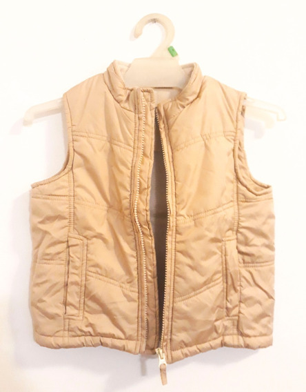 Chaleco Niño Talle 4 Años Beige Impermeable. Impecable!