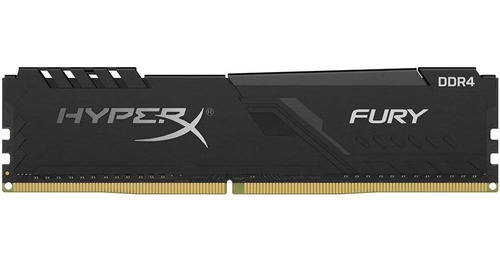 Imagem 1 de 4 de Memória Ddr4 16gb 2666mhz Hyper X Fury Black Gamer