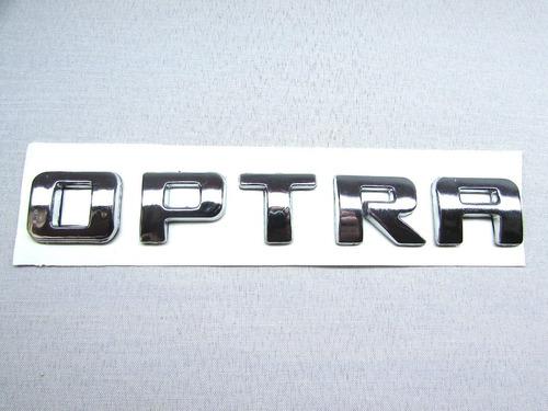 Emblema Optra Cromado