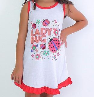 Ki C/3 Camisolas Infantil Com Babado | Roupas De Menina