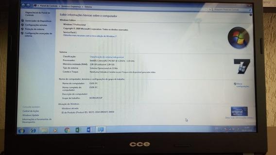 Notebook Ultra Thin U25 Celeron 847 1.10 Ghz 2gb 160hd