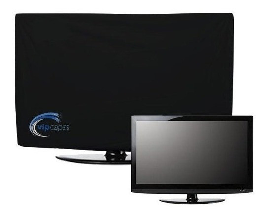 Capa Para Tv Led Lcd Plasma Corino Impermeável Fechada Atrás