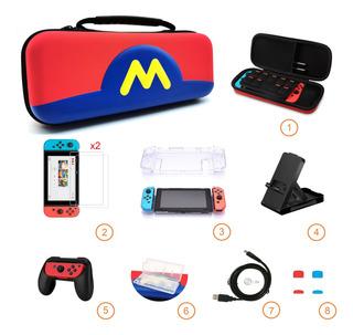 Kit De Estuche Con Accesorios Para Nintendo Switch 8 En 1
