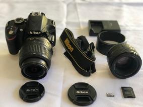 Câmera Fotográfica Nikon D3200 + 2 Lentes Nikkor + Memória