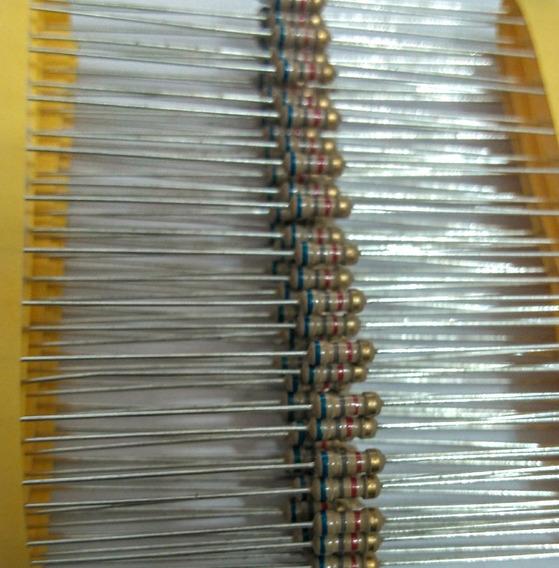 100pçs Resistor Cr25 6k8 5% 1/4w