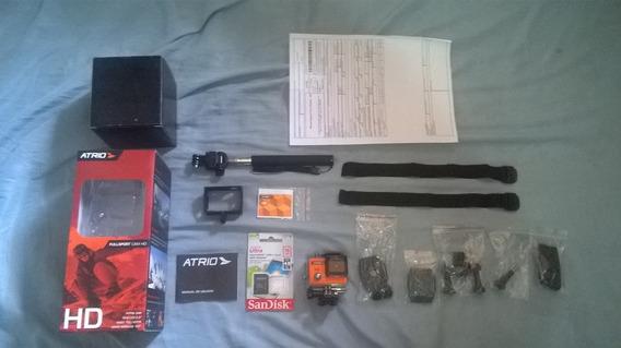 Câmera Filmadora Atrio Go Fullsport Pro + Cartão Ultra 16gb