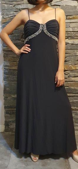 Vestido Fiesta Gris Oscuro Importado Eeuu Talle 14 Ver Medid
