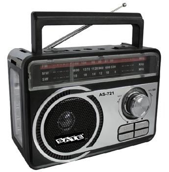 Radio Satellite As-721 Usb Sd Fm (pronta Entrega)