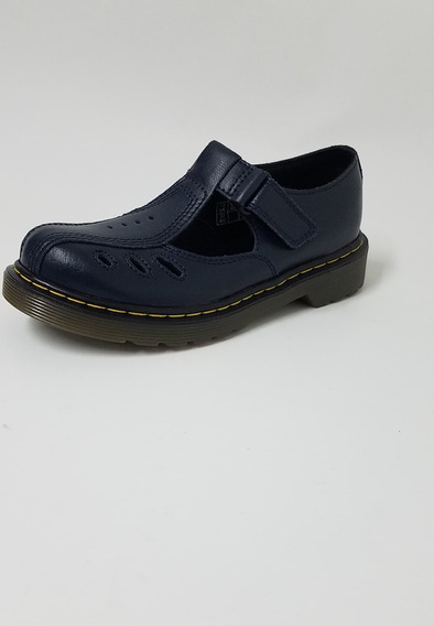 Sandalia De Cuero Dr Martens Azul Oscuro Nena Nene