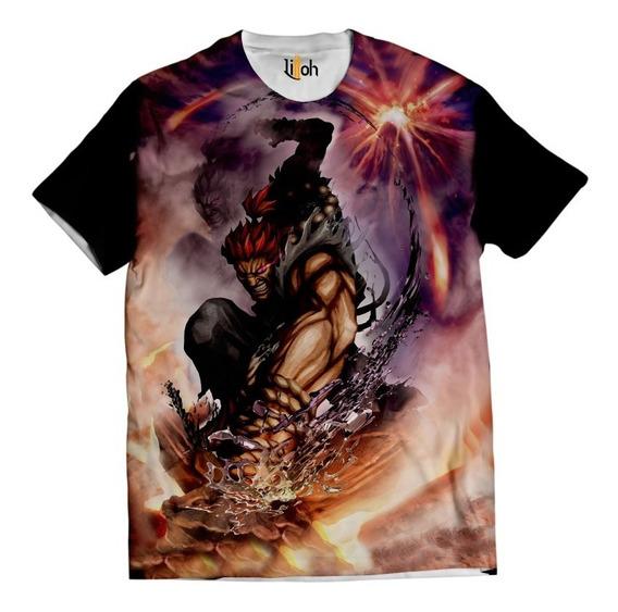 Camisa Street Fighter Camiseta Akuma 03