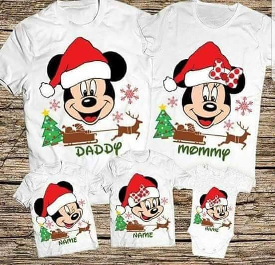 Polos Navideños Niños Familia