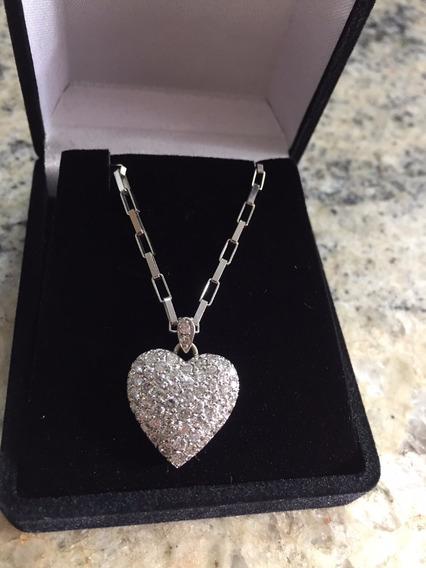 Colar De Diamantes Com 60 Pedras De Diamante - 3 Kilates