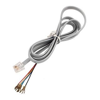 6p6c Rj11 A 6 Spade Lug Cable De Teléfono Conector De Cable