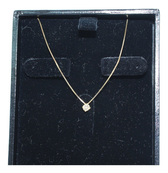 Pocao2005- Colar De Ouro 18k750 Diamante 12x S/j Ft/gt C375