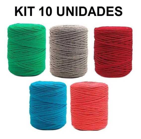 Fio De Malha 100 Metros Crochê Kit Com 10 Unid.