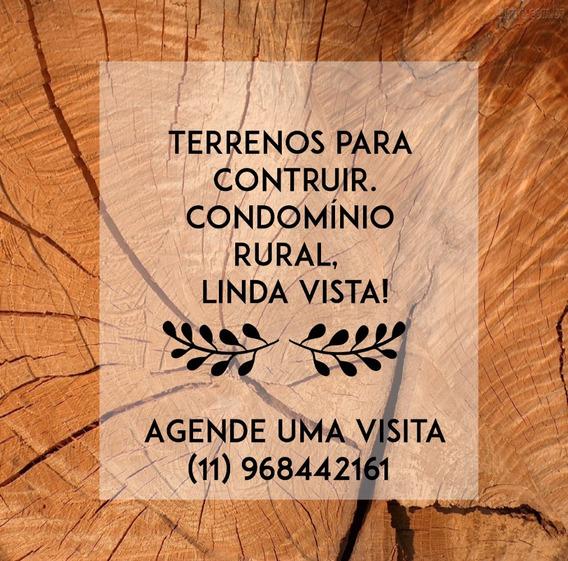 L. Lotes Bem Demarcados, Condomínio Fechado Em Ibiúna