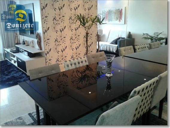 Apartamento Com 3 Dormitórios À Venda, 92 M² Por R$ 550.000,10 - Vila Assunção - Santo André/sp - Ap6291