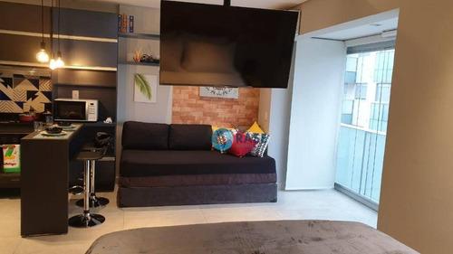 Studio Com 1 Dormitório Para Alugar, 33 M² Por R$ 4.900,00/mês - Chácara Santo Antônio - São Paulo/sp - St0077