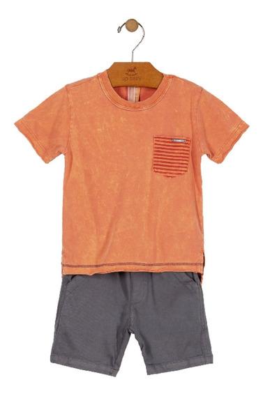 Conjunto Camiseta E Bermuda Infantil Up Baby