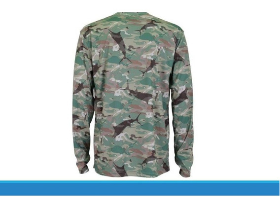 Playera Aftco M61107 Gray Camo