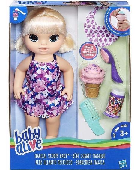 Boneca Baby Alive Sobremesa Magica Loira Hasbro C1090 12003