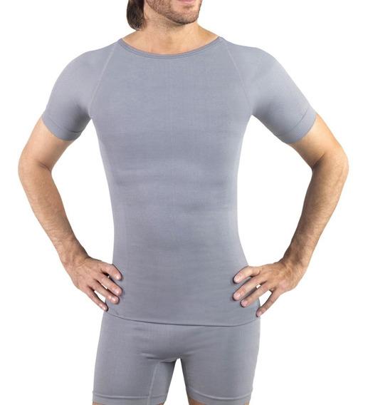 Camiseta Sin Costuras Hombre Cuello Redondo Con Mangas 4003