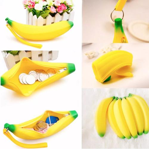 Imagen 1 de 6 de Monedero Lapicera Cosmetiquera Forma De Banana Platano H8064