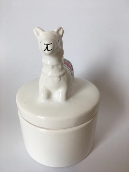 Porta Joia Lhama De Porcelana